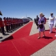 Quentin Bryce AC, Governor General of Australia, walks to inspect the official parade upon her arrival. Kate Holt.