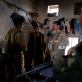 US Marines talk with an Afghan man in Lakari Bazaar, Garmsir District. Kate Holt.