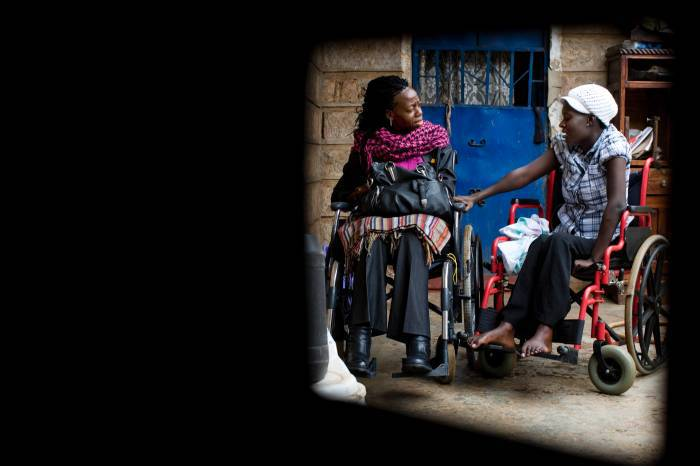 Bright Owaya, who became disabled as a result of a Road Traffic Crash. Kate Holt.