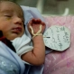 A premature baby lies in the special care Maternity Unit at the Malilai Hospital in Kabul, Afghanistan. Kate Holt.