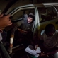 A taxi arrives with some war wounded patients to the ICRC compound in Kandahar City. Kate Holt.