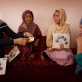 Norsia Najafi, who has been a Community Based Educator (CBE) since 2005, demonstrates to women. Kate Holt.