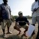 Fodé Luceny Camara, an Earthwatch volunteer from Guinea , Dr Bernard Kirui, a Kenyan scientist. Kate Holt.