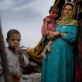 An Afghan woman who has returned from living in a refugee camp in Pakistan. Kate Holt.