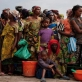 Families queue up to receive food rations at Don Bosco Orphanage in Goma. Kate Holt.