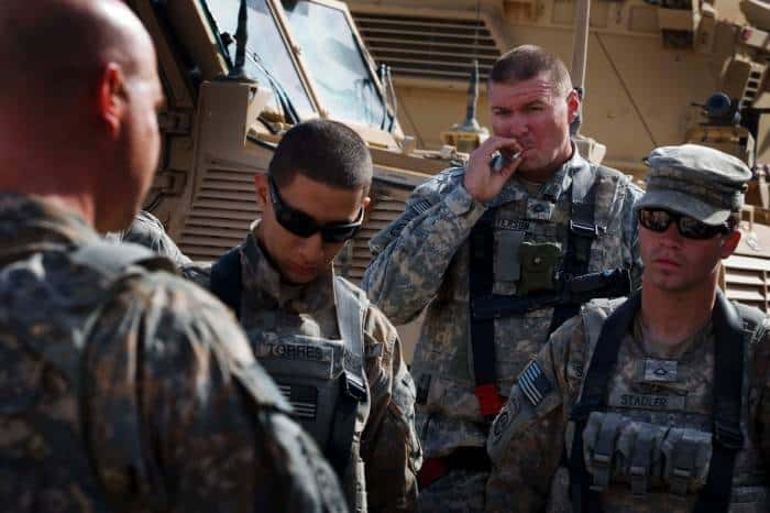 Private First Class Peterson of 2-508 of the 82nd Airborne Division of the US army. Kate Holt.