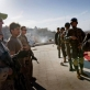 Members of the Afghan National Police (ANP) undergo training by Canadian Forces. Kate Holt.