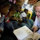 Quentin Bryce, Governor General of Australia reads a children's story about a possum to kindergarten children. Kate Holt.
