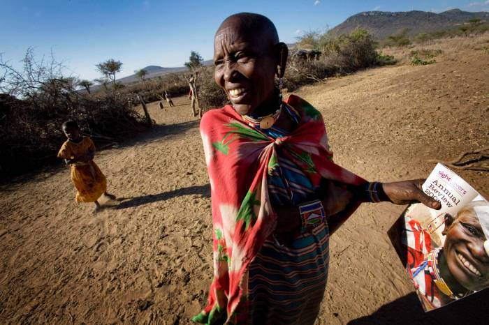 Lente Orumoi, 45 years old and who underwent Trachoma Surgery last year. Kate Holt.