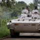 UN soldiers from Uruguay patrol the road between Rushturu and and the provincial capital of Goma. Kate Holt.