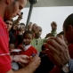 Ryan Giggs from Manchester United signs autographs for fans outside Vodaworld, in Johannesburg. Kate Holt.