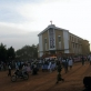 People celebrate the ordination of two priests outside the juba Cathedral Church. Kate Holt.