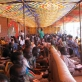 Citizens from Juba sit a tent constructed in Freedom Square, Juba, Southern Sudan. Kate Holt.