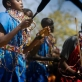 School children perform educational dances about Trachoma and how to prevent. Kate Holt.