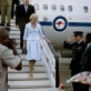Quentin Bryce, the Governor General of Australia, arrives at the airport in Nairobi. Kate Holt.