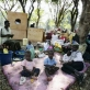 A family sits in a makeshift camp at the showground in Kericho Western Kenya. Kate Holt.