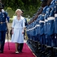 Quentin Bryce, the Governor General of Australia, inspects the Guard of Honour upon her arrival in Nairobi. Kate Holt.