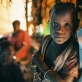 A child who lives in a settlement for Internally Displaced People outside of Goma. Kate Holt.