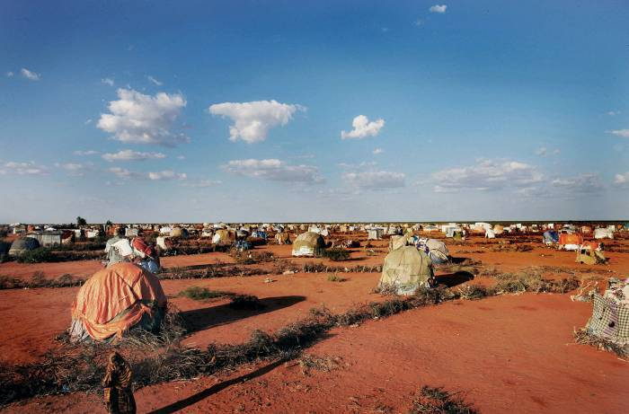 A settlement for people who have been displaced in North Galkayo, Somalia. Kate Holt.