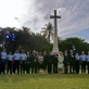 Members of 34 Squadron of the Royal Australian Air Force pay their respects at the Dar es Salaam War Cemetery. Kate Holt.