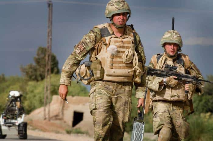 ATO, Jay Hobden, of 11 EOD of the Royal Logistics Corps (Left) and Cpl Tim Latchford of 5131 BD Sqn of the RAF. Kate Holt.