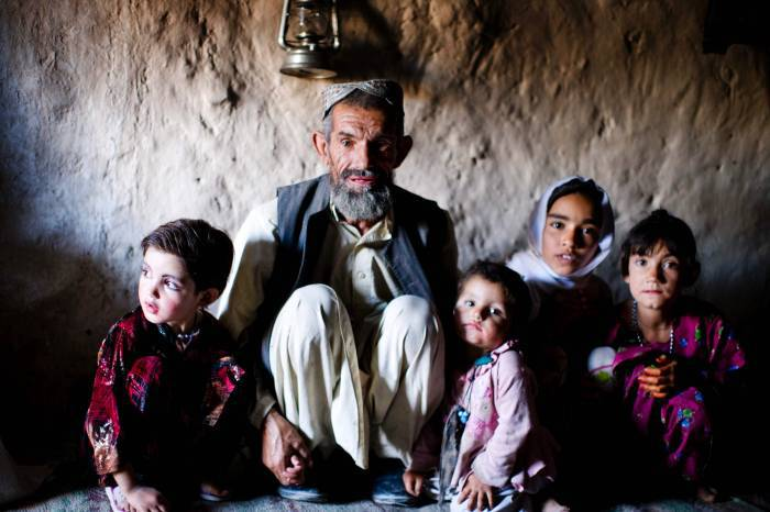 Aminoli, who fled Zabul 6 months ago after his village was bombed. Kate Holt.