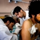 Akhtar Mohammed, who received a gun shot wound while driving his truck through a street in Kandahar City. Kate Holt.