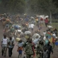 Civilians and soldiers flee renewed fighting in Kibati, five kilometers north of the provincial capital of Goma. Kate Holt.