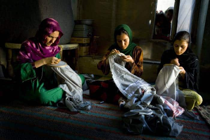 Sayed Bibi, who was widowed when her husband was killed as they fled from Taliban attacks. Kate Holt.