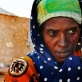 A woman in a refugee settlement in Bossaso, Somalia who comes from the Ogaden region of Ethiopia. Kate Holt.