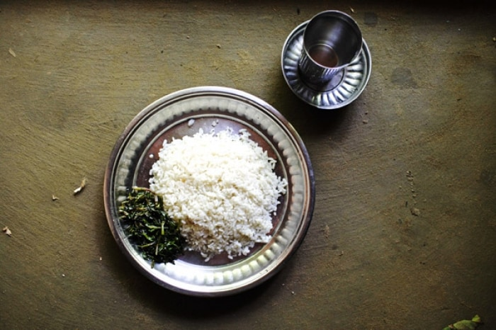 This is the average meal an elderly person in Bangladesh will eat every day. Kate Holt.