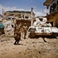AMISOM soldiers on patrol in the Sigaale District of Mogadishu. Kate Holt.