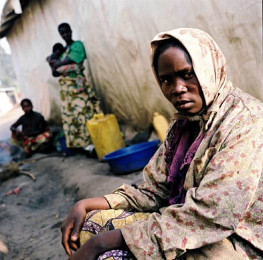 Extreme poverty in Congo's camps and towns, along with massive displacement. Kate Holt.