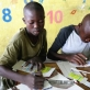 Boys from Don Bosco prepare their entries for the competition. Kate Holt.