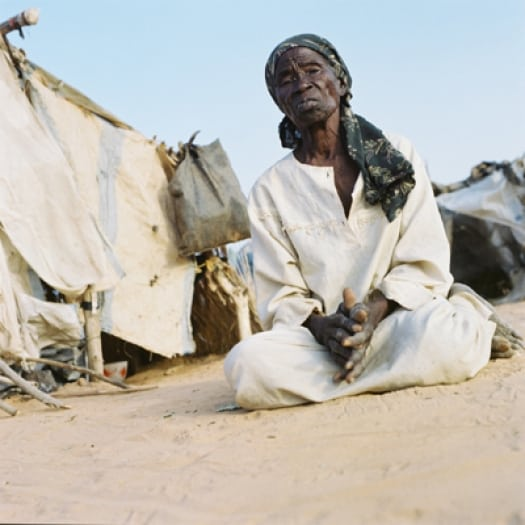 Fatima lives in Krindig Camp, Darfur with her seven grandchildren. Kate Holt.
