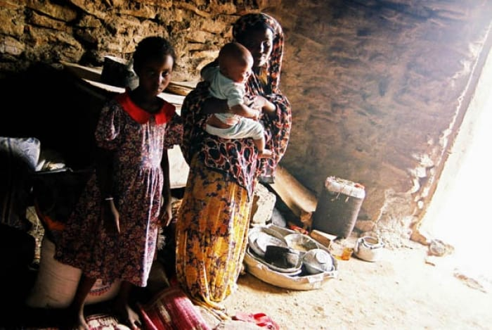 An Afar family who benefit from a water project established by Johanniter in Djibouti. Kate Holt.