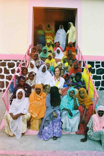 Bettina Braeunl of Johanniter, Germany, is photographed with the Tadjoura's women's Association. Kate Holt.