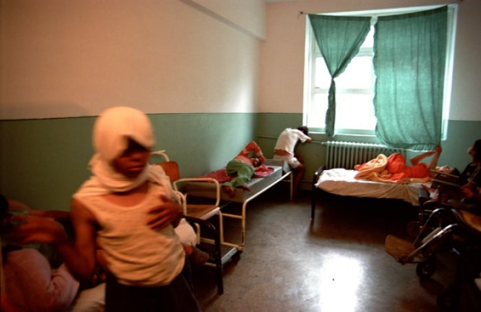 Many of the children in Negru Voda, like those pictured in this room, are severely traumatised. Kate Holt.