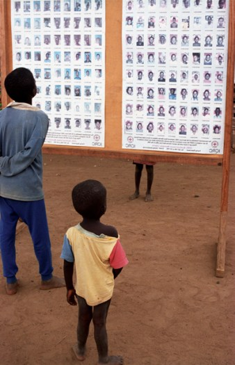 Thousands of children have been separated from their parents as a result of the conflict. Kate Holt.