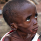Naya is 12 years old. Her parents were forced to flee their home in Lofu county over a year ago. Kate Holt.