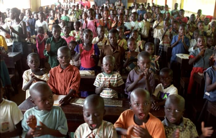 Schooling is difficult for children to continue when they have been displaced. Kate Holt.