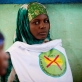 Women sit in a community meeting, organised by UNICEF,  to raise awareness about the dangers of FGM in the Shabelle. Kate Holt.