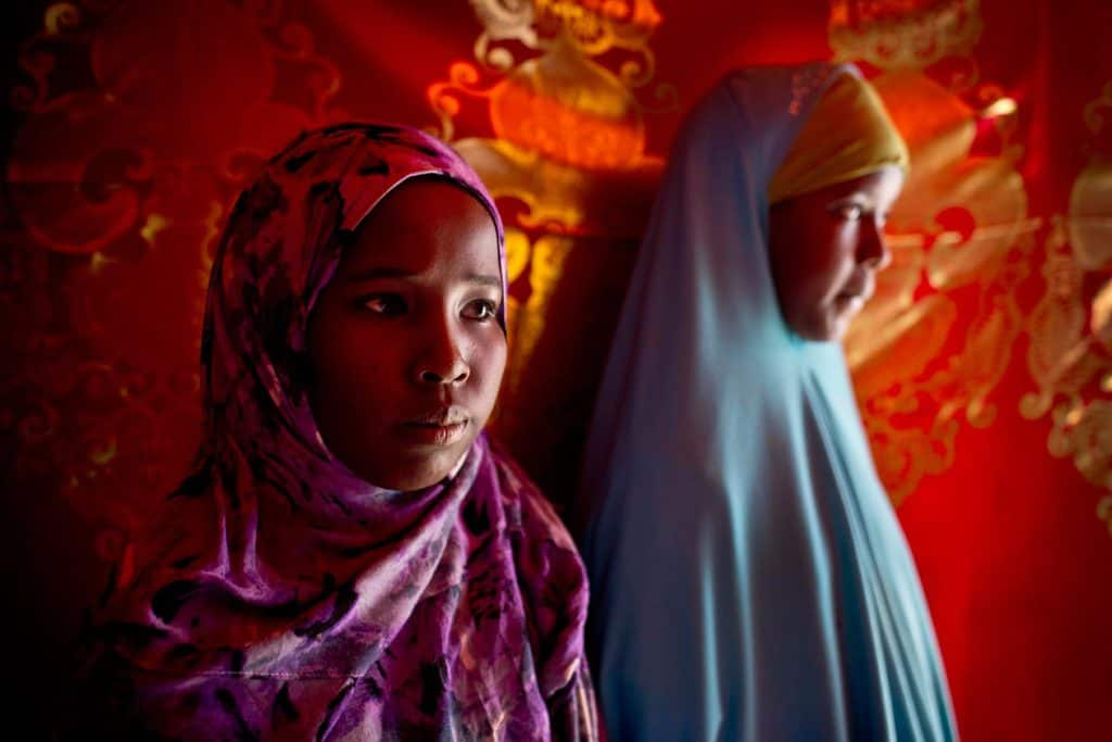 Portraits of people involved with UNICEFS campaign to combat FGM in the Shabelle IDP settlement in  Garowe. Kate Holt.