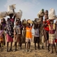 Families who have been displaced by ongoing fighting inSouth Sudanarrive with what few possessions they have. Kate Holt.