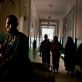 A security guard patrols a ward maternity unit of Benadir Hospital in Mogadishu. Kate Holt.