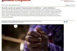 Somalis speak out against female genital mutilation