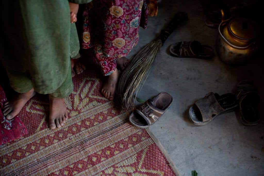 Displaced children are having to find their feet in new surroundings in Kandahar. Kate Holt.