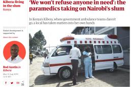 Paramedics in Kibera